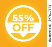 55  off circle sign icon.... | Shutterstock .eps vector #597617573