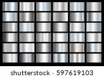 silver foil texture background... | Shutterstock .eps vector #597619103