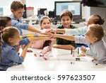 education  children  technology ... | Shutterstock . vector #597623507