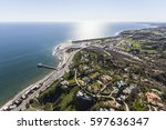 aerial view of pacific ocean... | Shutterstock . vector #597636347