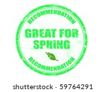 grunge rubber stamp with green... | Shutterstock .eps vector #59764291