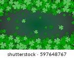 green clover abstract... | Shutterstock .eps vector #597648767