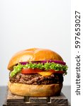 grilled beef burger...