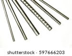 deformed steel bar and round... | Shutterstock . vector #597666203