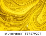 yellow and gold oil paint... | Shutterstock . vector #597679277