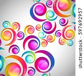 abstract colorful spiral arc... | Shutterstock . vector #597692957