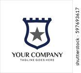 castle shield logo | Shutterstock .eps vector #597693617