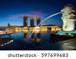 singapore city  singapore   feb ... | Shutterstock . vector #597699683