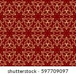 romantic geometric floral... | Shutterstock .eps vector #597709097