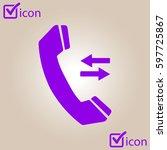 phone icon. flat design style....