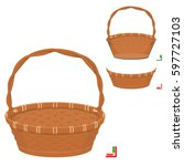 front of basket  and back of...   Shutterstock .eps vector #597727103