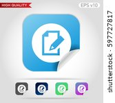 edit document icon. button with ...