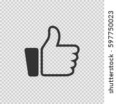 thumb up vector icon eps 10.... | Shutterstock .eps vector #597750023