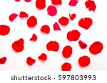 repeatable rose petals in red ... | Shutterstock . vector #597803993