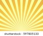 abstract yellow sun rays... | Shutterstock .eps vector #597805133