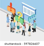 vector exhibition or promotion... | Shutterstock .eps vector #597826607