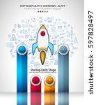 infograph brochure template... | Shutterstock .eps vector #597828497