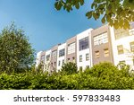 residential architecture in... | Shutterstock . vector #597833483