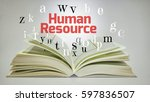 education concept. open book... | Shutterstock . vector #597836507