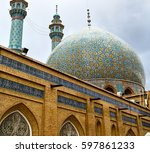 blur in iran  and old antique... | Shutterstock . vector #597861233