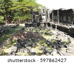 ancient khmer castle in cambodia | Shutterstock . vector #597862427