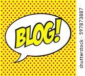 vector banner for a blog. blog...   Shutterstock .eps vector #597873887
