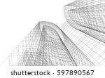 abstract architecture | Shutterstock .eps vector #597890567