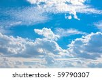 Skyscape  Cumulus Clouds In Th...