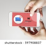 message letter e mail chat... | Shutterstock . vector #597908837