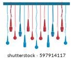 microphones vector set in a... | Shutterstock .eps vector #597914117