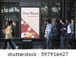 network graphic overlay banner... | Shutterstock . vector #597916427