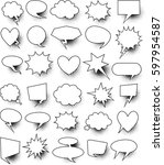 set of  30 blank effects... | Shutterstock .eps vector #597954587