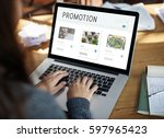 e commerce online shopping... | Shutterstock . vector #597965423