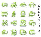 Transport Web Icons  Green...
