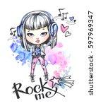 hand drawn bright  illustration....   Shutterstock . vector #597969347