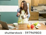 good looking young woman...   Shutterstock . vector #597969803