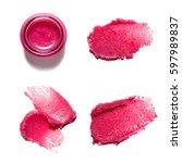 texture of sugar scrub for body ...   Shutterstock . vector #597989837