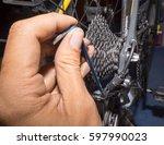 adjust bike | Shutterstock . vector #597990023