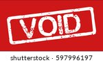 "stamp with word ""void""  grunge... 