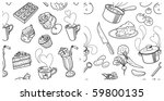 2 seamless pattern  sweets and... | Shutterstock .eps vector #59800135