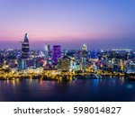 ho chi minh city view at night | Shutterstock . vector #598014827