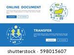 doodle web banners vector... | Shutterstock .eps vector #598015607