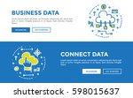 doodle web banners vector...   Shutterstock .eps vector #598015637