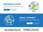 doodle web banners vector...   Shutterstock .eps vector #598015643