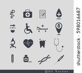 medical icons | Shutterstock .eps vector #598016687
