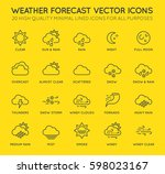 set of minimal weather related... | Shutterstock .eps vector #598023167