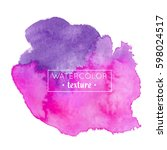 watercolor tag background... | Shutterstock .eps vector #598024517