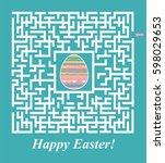 happy easter. maze vector...   Shutterstock .eps vector #598029653