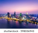 ho chi minh city view at night | Shutterstock . vector #598036943