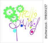 spring  flower background ...   Shutterstock .eps vector #598054157